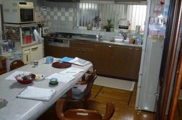 和室とキッチンを一体化 前