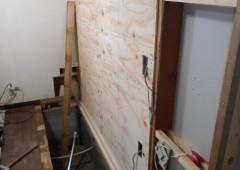 構造用合板貼付け完了です