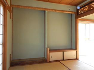 欄間や床の間もあった立派な和室でした