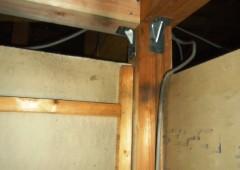 押し入れ内の壁解体