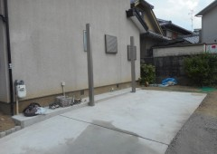 コンクリート打設・水撒き