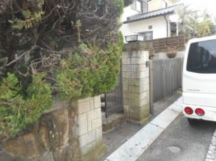門扉や駐車場の施工前