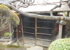 数寄屋門(内側)のリフォーム前