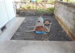 庭解体・土を掘削しました