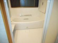 在来工法のお風呂からユニットバスへリフォームをした工事後の写真