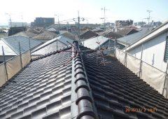屋根葺替工事前