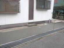 駐車場造成工事後