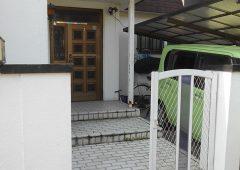 玄関前のアプローチ改修