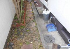 既存の排水廻所を入替