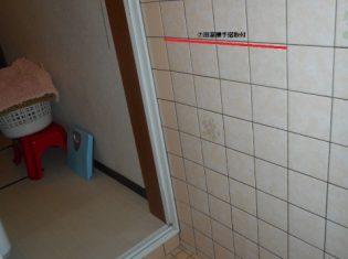 浴室手すり取付前