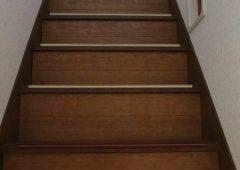 階段にも猫の出入り口の穴があります
