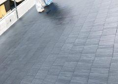 屋根塗装上塗り黒